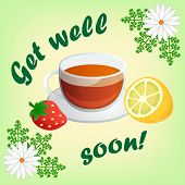 stock photo of wishing-well  - Get well soon card - JPG
