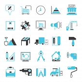 picture of hammer drill  - set of 25 tool icons industry icons - JPG