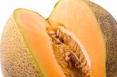 stock photo of muskmelon  - Persian melon muskmelon cantaloupe known as Patelquat fruit - JPG