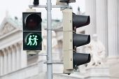 image of homogeneous  - Traffic light Vienna for more tolerance stoplight with same - JPG
