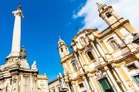 stock photo of dominate  - Church of Saint Dominic in Palermo - JPG