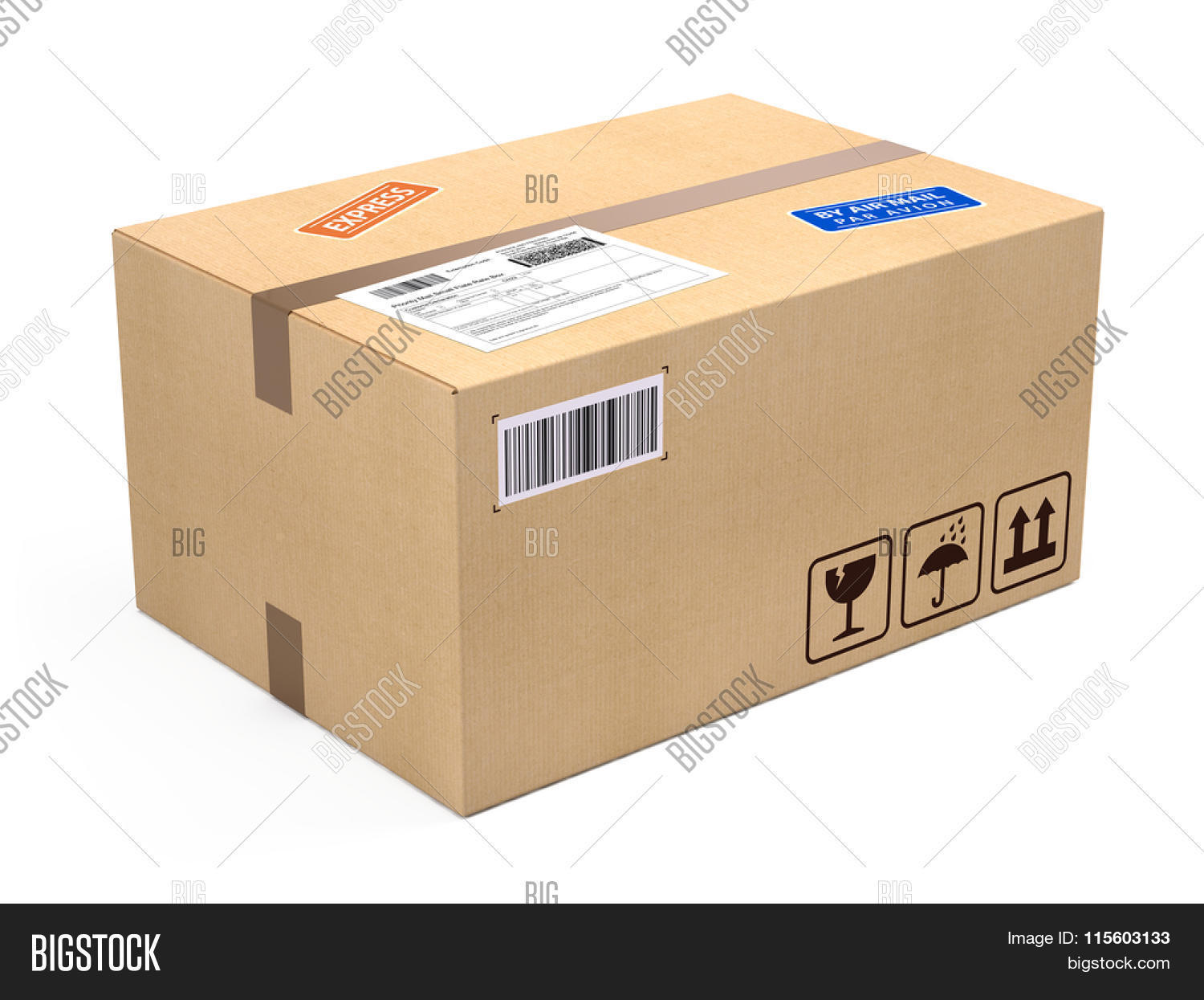 cardboard box package parcel isolated on white shipping concept stock photo stock images. Black Bedroom Furniture Sets. Home Design Ideas