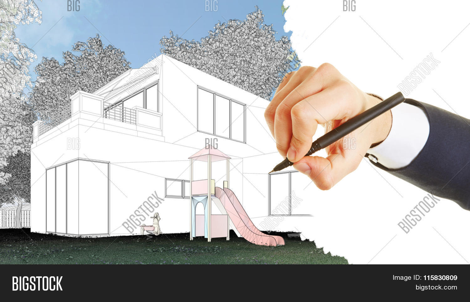 Architectural Drawings Of Modern Houses