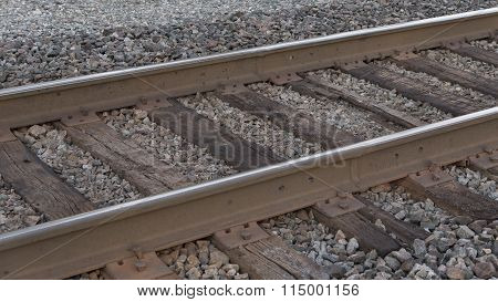 Railroad Tracks And Ties