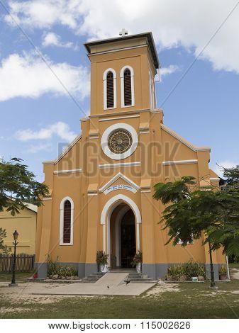 Roman Catholic Church On The Island Of La Digue