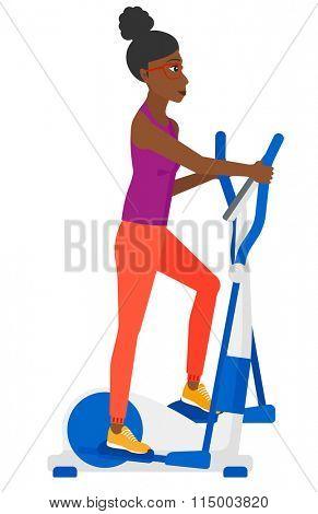 Woman making exercises.