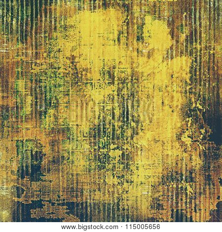 Old abstract grunge background, aged retro texture. With different color patterns: yellow (beige); brown; black; green; gray