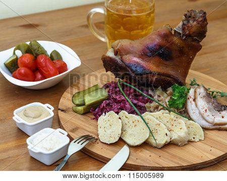 Traditional Czech Pork Knuckel On The Bone