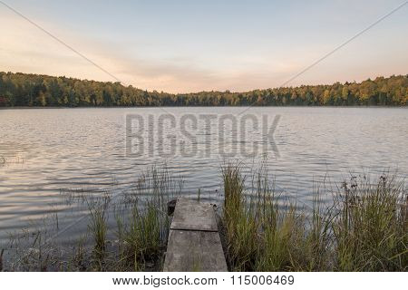 Dock On A Forest Lake
