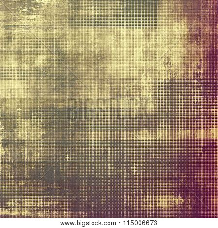 Old grunge antique texture. With different color patterns: yellow (beige); brown; purple (violet); gray