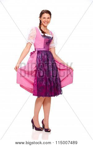 Young Woman With Dirndl Dress 2