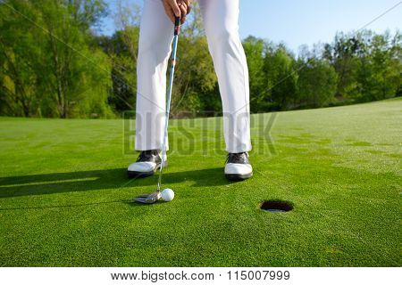 Golfer On The Hole