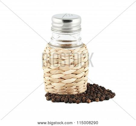 Dried pepper with paper shaker