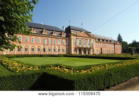 Rococo castle Dobris in Czech republic