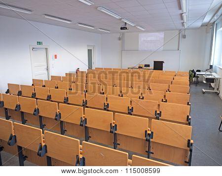 Pews In The Seminar Room