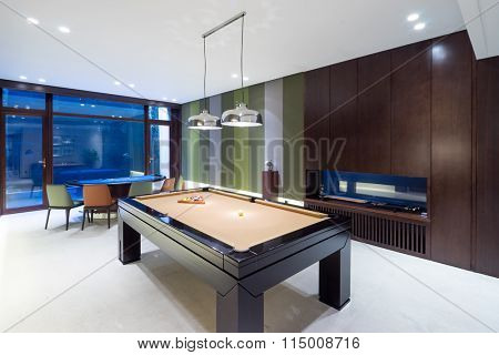 decoration and design in modern recreation room