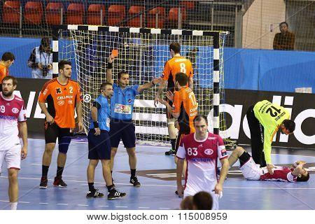 Handball Game Motor Zaporozhye Vs Kadetten Schaffhausen