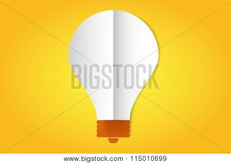 Bulb lamp flat style isolated. Glowing glass lamp with shine color. Lamp silhouette, lamp isolated, lamp bulb, lamp icon. Creative idea, creative concept, brainstorm, thinking