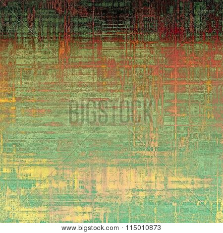 Old abstract grunge background for creative designed textures. With different color patterns: yellow (beige); brown; green; red (orange); cyan