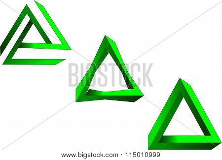 green triangle shapes