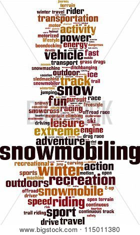 Snowmobiling Word Cloud
