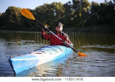 Kayaking the Colorado River.