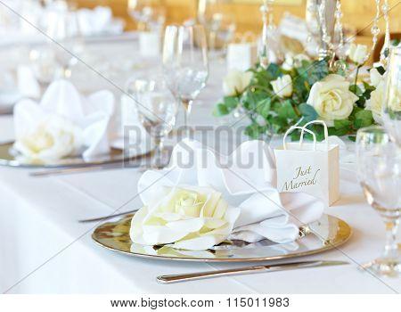 Wedding Banqueting Table