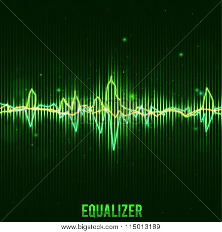 abstract green equalizer wave form eps 10