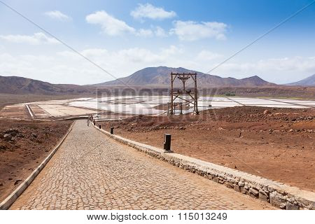 View Of Salinas  In Sal Cape Verde - Cabo Verde Islands