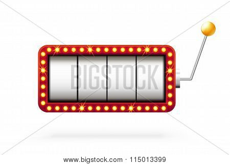 slot machine 3d isolated on white