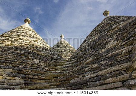 Alberobello, roofs of the trulli
