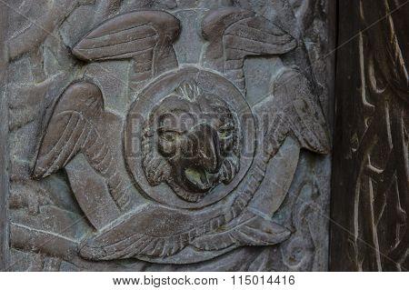 Basilica of Alberobello. Bas-relief