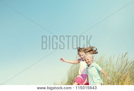 Kids Activity Happiness Summer Playful Concept