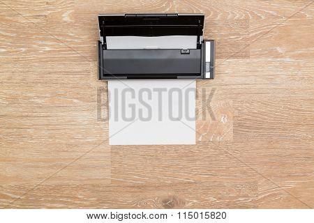 Hero Header Image Of Tidy Desktop With Scanner
