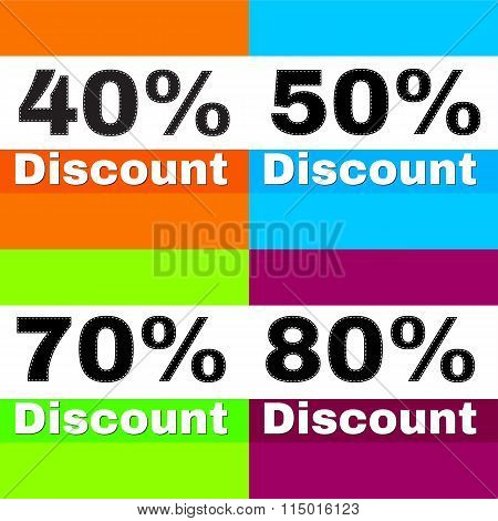 Sale Discount Icons
