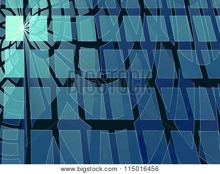 Abstract Modern Digitally Generated Blue Background