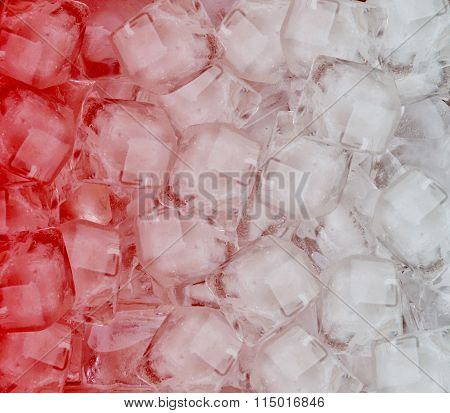 Background Of Red Ice Cubes