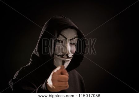 Vendetta Mask - Symbol For The Online Hacktivist Group Anonymous.