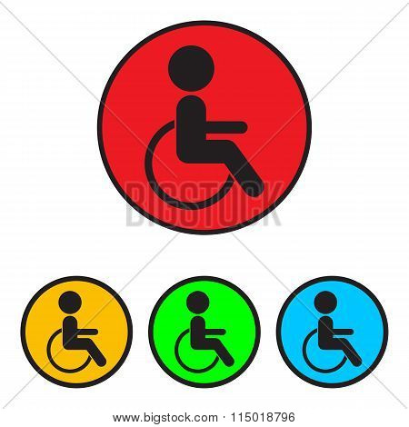Disabled Sign Icon.