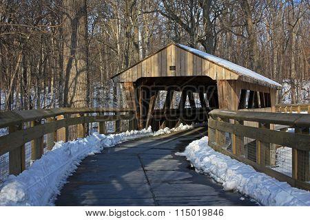 Covered bridge in Toledo, OH