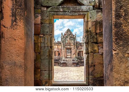 Prasat Hin Mueang Tam Hindu religious ruin located in Buri Ram Province Thailand, built around the 1