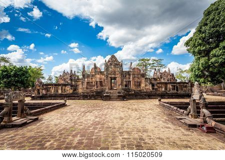Prasat Hin Mueang Tam Hindu religious ruin located in Buri Ram Province Thailand, built around the 1