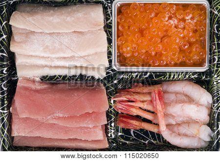 Sashimi the frozen
