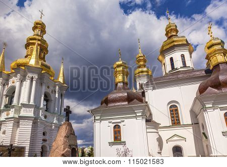 Bell Tower Church Birth Blessed Virgin Holy Assumption Pechrsk Lavra Cathedral Kiev Ukraine