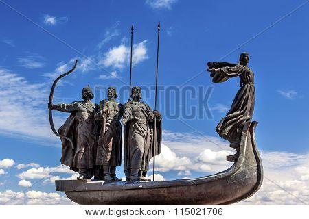 Founders Monument Dniper River Kiev Symbol Ukraine