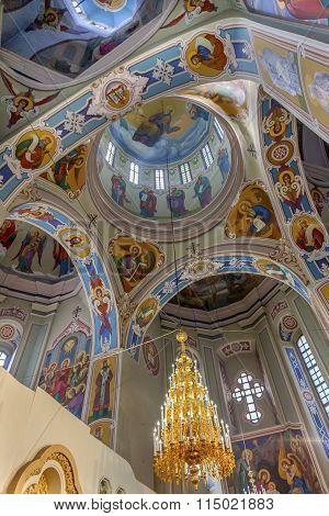 Interior Saint George Cathedral Vydubytsky Monastery Kiev Ukraine