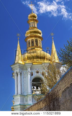 Bell Tower Far Caves Holy Assumption Pechrsk Lavra Cathedral Kiev Ukraine