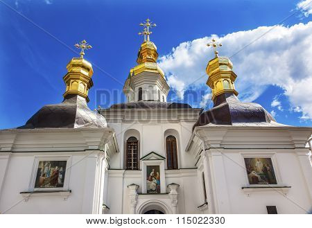 Blessed Virgin Holy Assumption Pechrsk Lavra Cathedral Kiev Ukraine Church