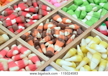 Mix many color sweet candy corn box