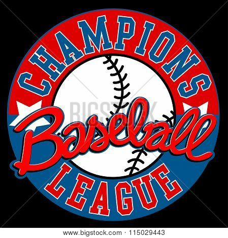 Baseball Champions League Sign With Ball
